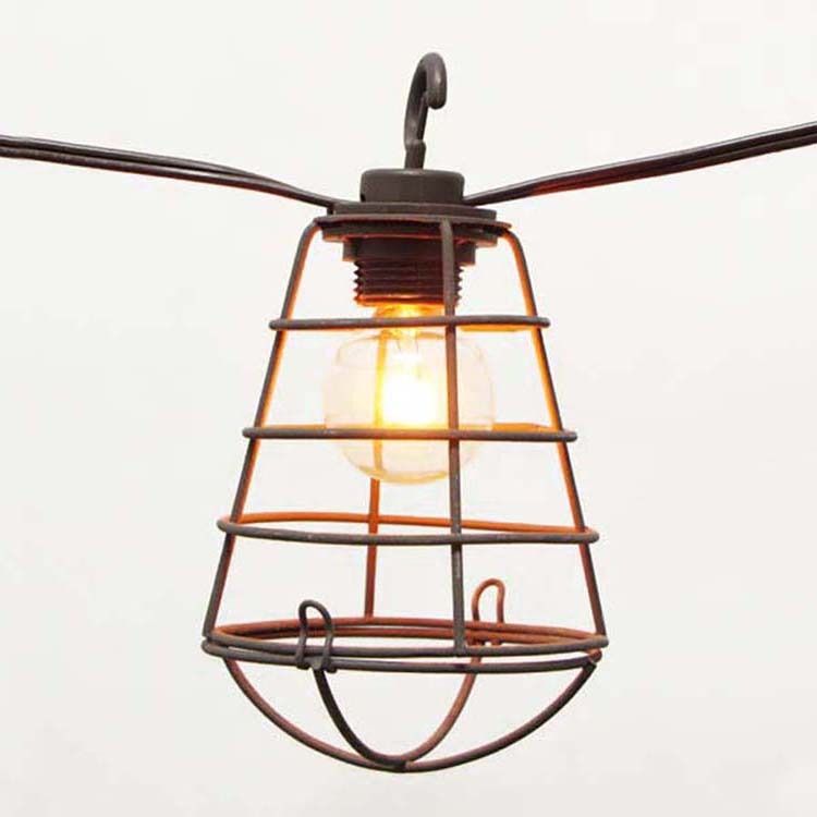 Pre-Painted Aluminum Steel Solar Powered Outdoor Lighting - Cafe SL- Wire Cage Shades MYHH93056 – Zhongxin