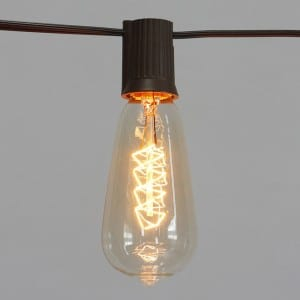 Incandescent String Light with Looped Filament Bulb