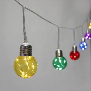 Plastic RGB G50 Bulb String Light