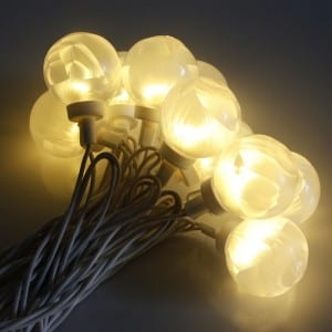 White Feather Style Clear G40 Bulb Electric String Light