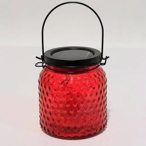 Solar Powered Mason Jar Lights Outdoor Glass Lantern