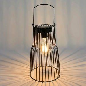 Metal Wire Solar Lantern Outdoor for Garden