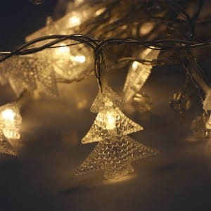 20 LED Plastic Christmas Tree Battery Operated String Light