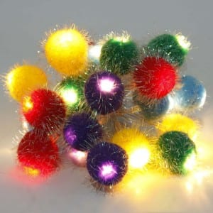 Natural Materials Colorful Ball Battery Operated String Light