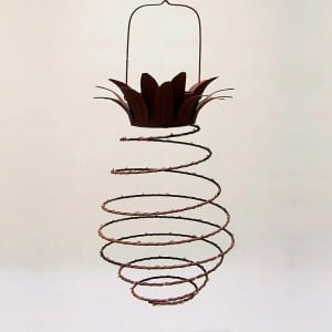 Pineapple Wire Lantern Solar Operated for Outdoor Use