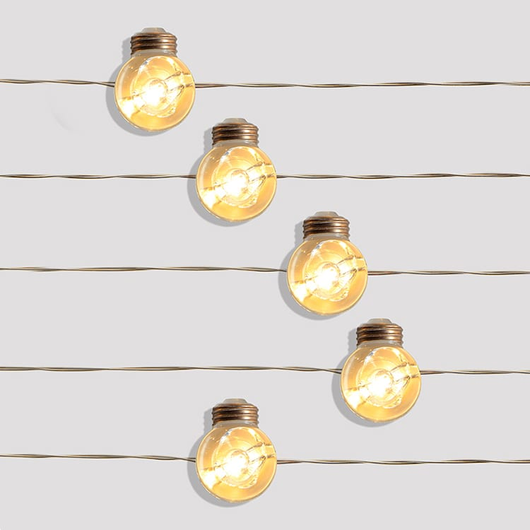 Alu-Zinc Roof Steel Outdoor Cafe String Lights -