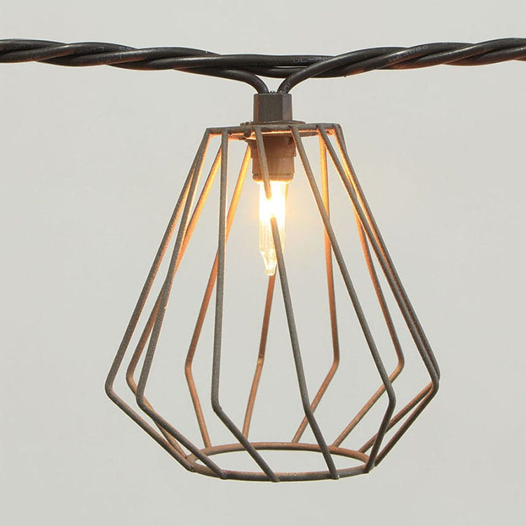 Tin-Plate String Lights With Lampshade -  Wire-Wire+beads Covers  MYHH01630 – Zhongxin
