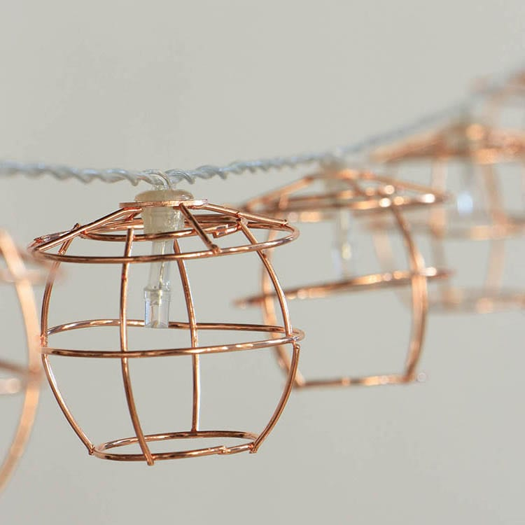 Tin-Plate String Lights With Lampshade - Wire-Wire+beads Covers  MYHH02371-BO (B) – Zhongxin
