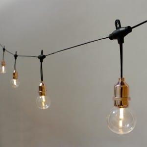 Edison Umbrella String Lights with Solar Panel KF09058-SO