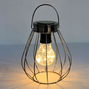 Solar Lanterns Metal Wire Style Hanging Decor
