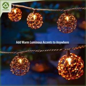 Copper Wire Ball 10 LED Electric Decorative Patio String Lights