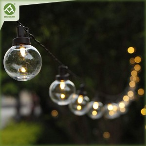 G40 Bulbs String Lights Outdoor Solar Operated for Holiday