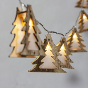 Christmas Decorative Lighting LED 3D Wooden Christmas Tree Christmas String Lights
