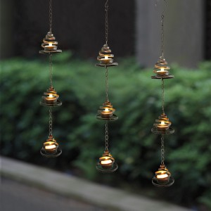 Hanging LED Tea Light Holder -KF05010