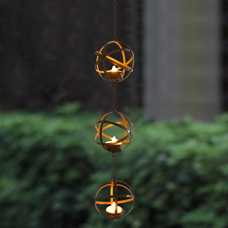 Hanging LED Tea Light Holder -KF05017 Featured Image