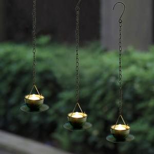 Solar Candle Tea Light with Metal Coffee Mug Holder