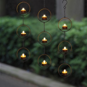 Hanging LED Tea Light Holder -KF05032-SO