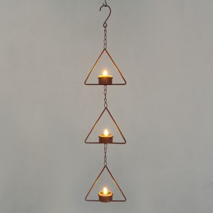 Hanging LED Tea Light Holder -KF05034-SO