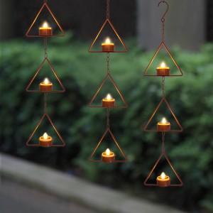 Hanging LED Tea Light Holder -KF05034-SO