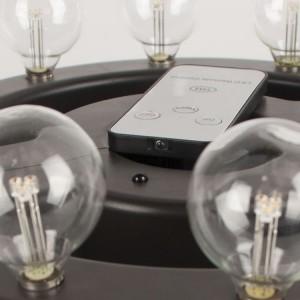 Patio Umbrella Lights Battery Operated Glass Bulbs Decor