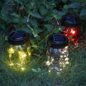 Hanging Solar Mason Jar Lights Lantern Outdoor Decor