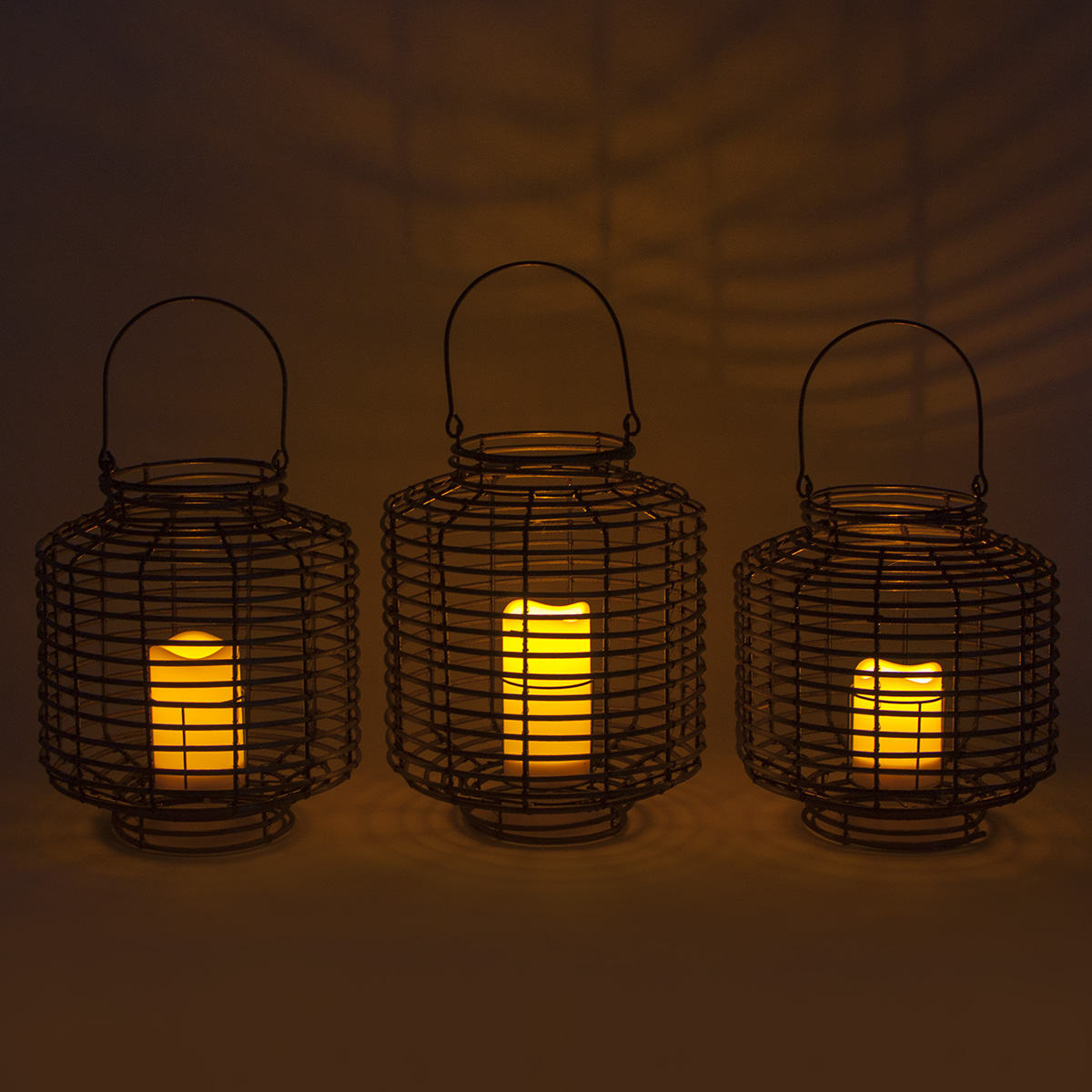 Rattan Outdoor Solar Lantern Patio Decor with LED Candle Featured Image