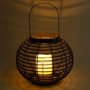 Rattan Solar Candle Lantern Hanging Decor for Garden