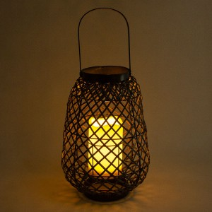 Rattan Solar Lantern Outdoor Popular Style Table Decor