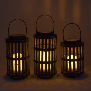 Solar Wood Lantern Garden Party Table Decoration