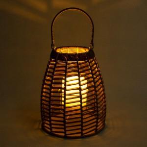 Hanging Solar Rattan Lantern Table Decor for Outdoors