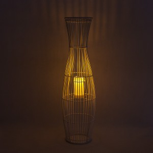 Decorative Solar Lantern Rattan Waterproof for Table Decor