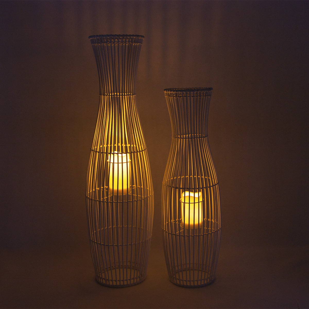 Decorative Solar Lantern Rattan Waterproof for Table Decor Featured Image