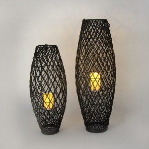 Solar Decorative Rattan Lantern Outdoor Decor for Garden