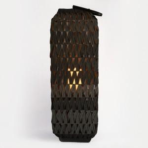 Solar Rattan Lantern Garden with Solar Candle