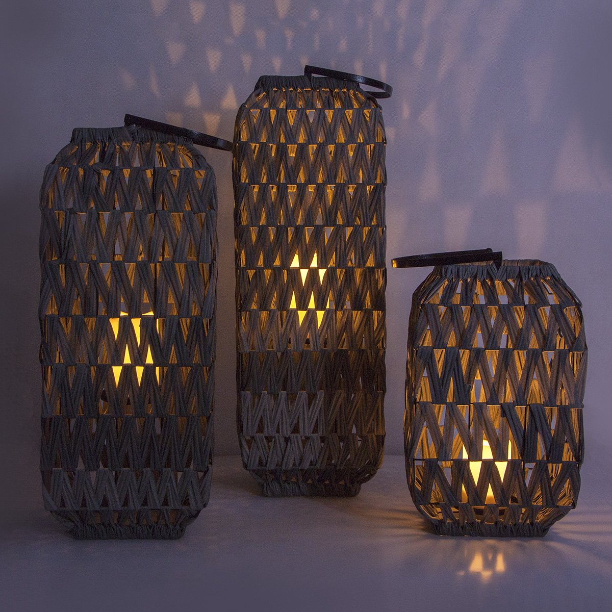 Solar Rattan Lantern Garden with Solar Candle Featured Image