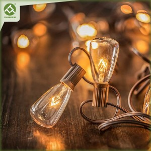ST35 Incandescent Bulb String Light Electric Powered Outdoor Lighting for Patio