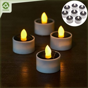 8PK Solar Lantern Tea Light Candle Outdoor Decoration