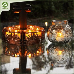 Solar Tea Lights Flameless LED Holiday Decoration