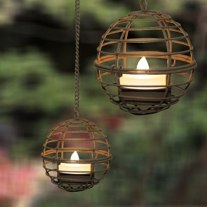 Outdoor LED Candle Holder with Solar Lights