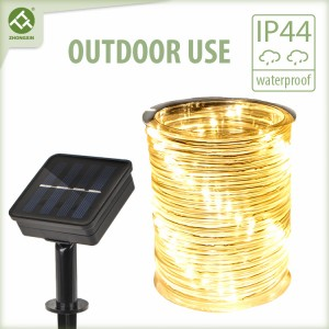 Solar LED Rope Light Outdoor Lighting for Lawn Decor