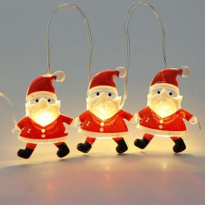 Christmas Decoration Santa Claus Style LED String Light Battery Operated