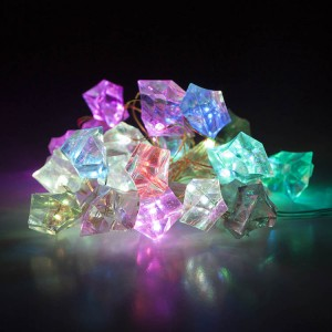 25 Copper Wire Multicolor LED Plastic Crystal Battery Operated String Light
