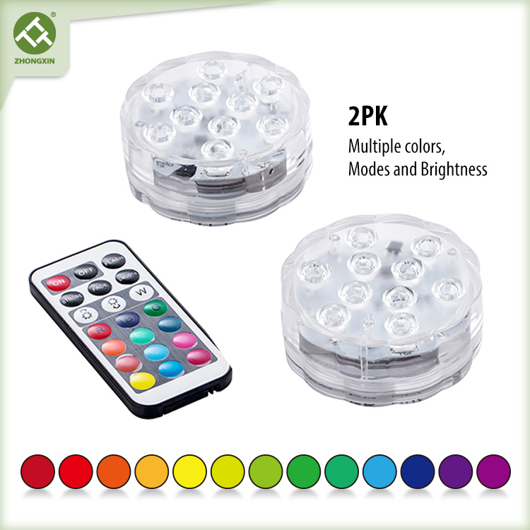 Submersible LED Light Battery Operated Remote Control Color Changing Featured Image