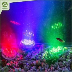 Submersible LED Light Battery Operated Remote Control Color Changing