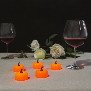 Pumpkin Candle Battery Operated Tea Lights for Halloween Decoration