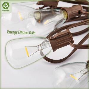Solar Edison Bulb String Light ST38 with Warm White LEDs