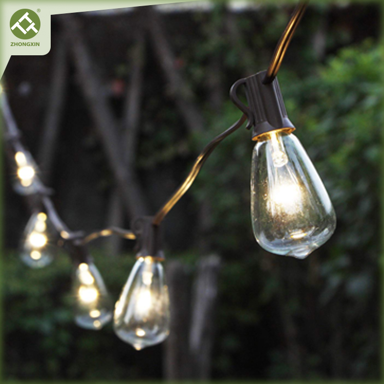 Solar Edison Bulb String Light ST38 with Warm White LEDs Featured Image