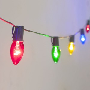 Christmas Decorative Lighting C7 Colorful LED Bulb String Lights