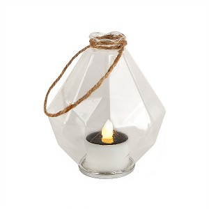 Glass Solar Lantern Outdoor for Hanging Decoration