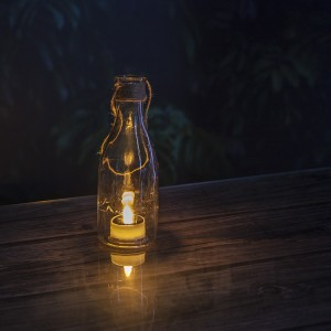 Solar Lantern Lights Flameless LED Garden Decor